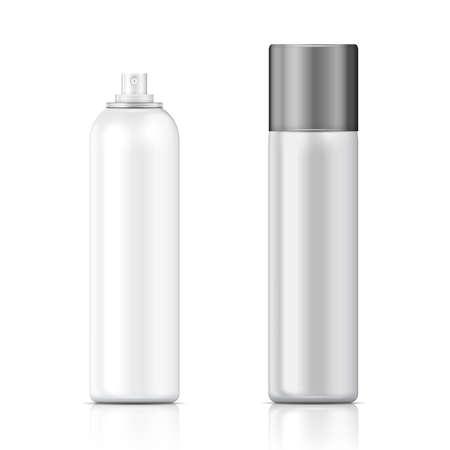 Illustration pour White and silver sprayer bottle template  - image libre de droit