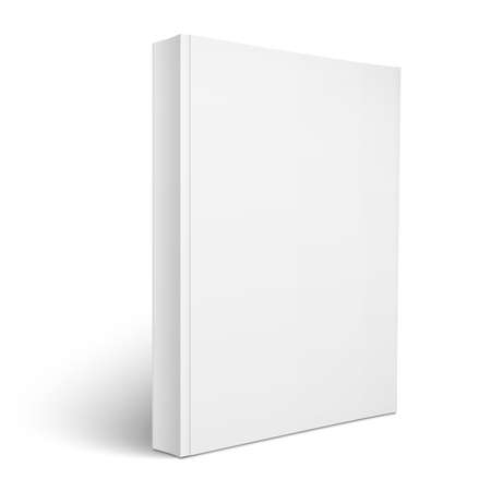 Illustration for Blank vertical softcover book template. - Royalty Free Image