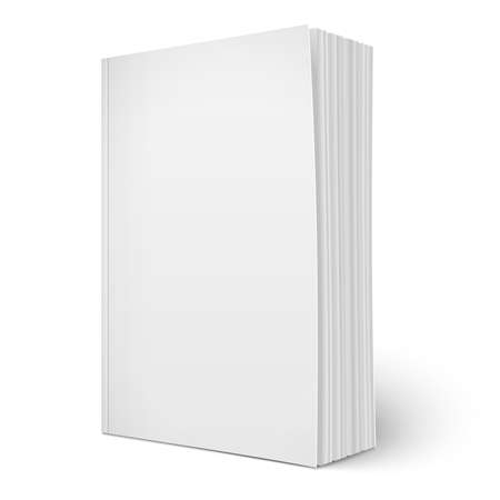 Illustration pour Blank vertical softcover book template with pages. - image libre de droit
