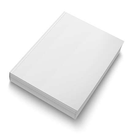 Illustration pour Blank softcover book template on white. - image libre de droit