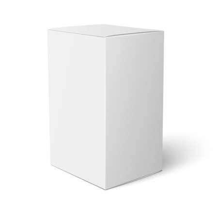 Illustration pour White paper box template. - image libre de droit