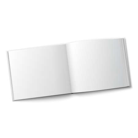Illustration pour Blank spread album template. - image libre de droit