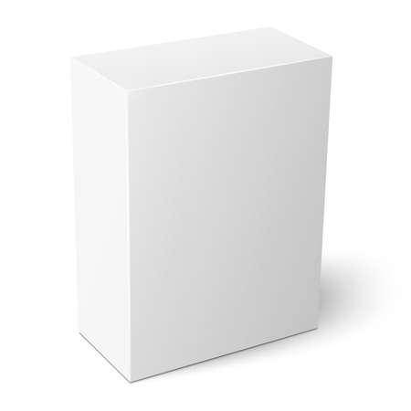 Illustration pour White vertical paper box template. - image libre de droit