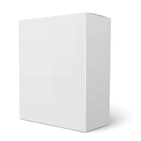 Illustration pour Blank vertical paper box template standing on white background Packaging collection. Vector illustration. - image libre de droit