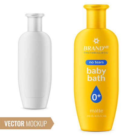 Illustration for Shampoo bottle template. - Royalty Free Image