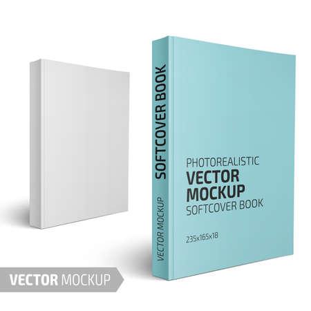 Illustration pour Blank vertical softcover book template. - image libre de droit