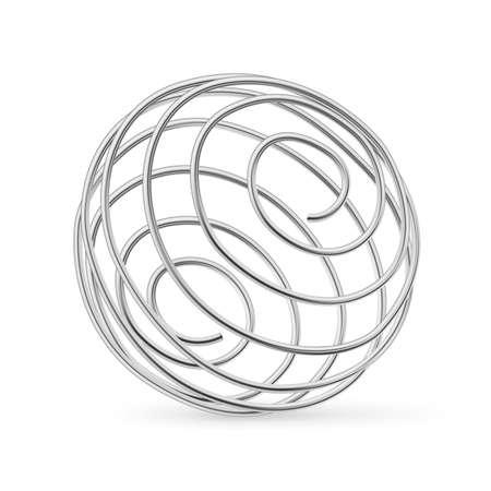 Illustration pour Stainless Steel Whisk Ball For Shaker Bottle. - image libre de droit
