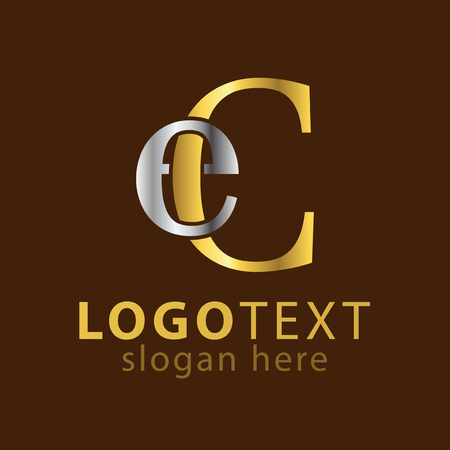 Illustration for EC Initial letter logo icon vector - Royalty Free Image