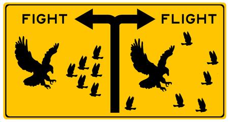 Foto de fight or flight illustration - Imagen libre de derechos