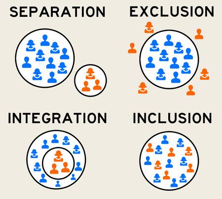 Foto de people groups hierarchy illustration - Imagen libre de derechos