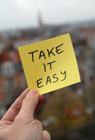 Photo pour Take it easy - image libre de droit