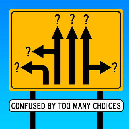 Photo for too many choices illustration - Royalty Free Image