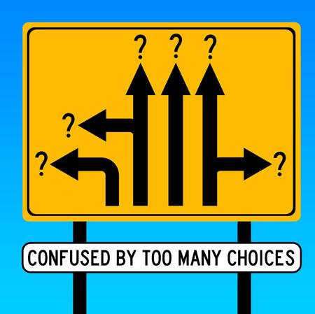 Photo pour too many choices illustration - image libre de droit