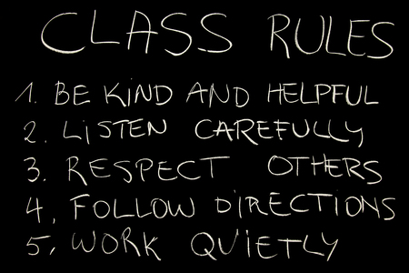 Foto de Class rules - Imagen libre de derechos