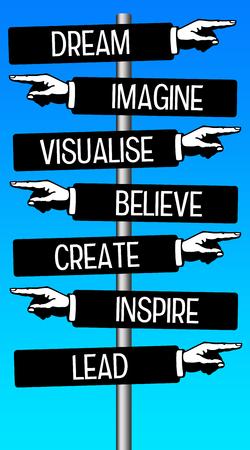 Photo pour Life fulfillment illustration - image libre de droit