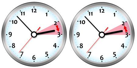 Photo pour Daylight saving time illustration - image libre de droit