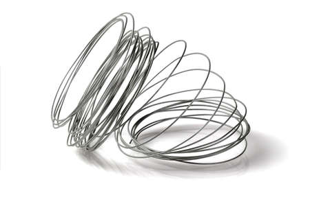 Foto de Loose Coil of Wire on White Background - Imagen libre de derechos