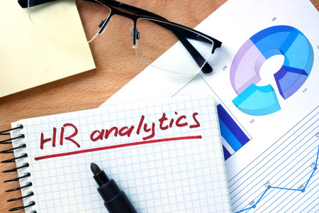 Photo for Notepad with words hr analytics. - Royalty Free Image