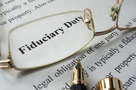 Photo for Fiduciary duty concept written on a paper. - Royalty Free Image