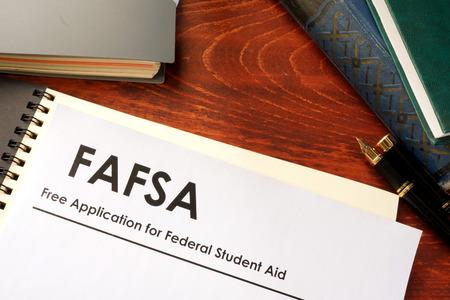 Photo pour Free Application for Federal Student Aid (FAFSA) - image libre de droit