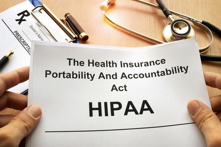 Foto de HIPAA.  The Health Insurance Portability and Accountability Act of 1996. - Imagen libre de derechos