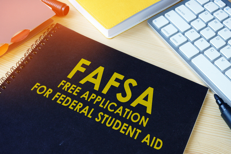Foto de Free Application for Federal Student Aid (FAFSA). - Imagen libre de derechos