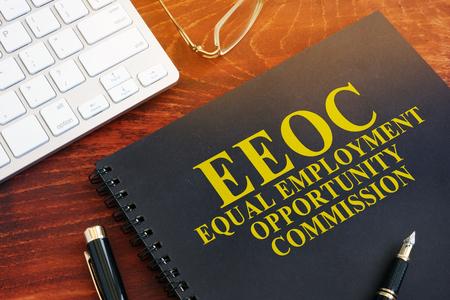Photo pour Equal Employment Opportunity Commission EEOC on a desk. - image libre de droit