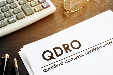 Foto de Documents about qualified domestic relations order QDRO. - Imagen libre de derechos