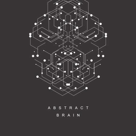 Illustration pour Hexagons genetic pattern. - image libre de droit
