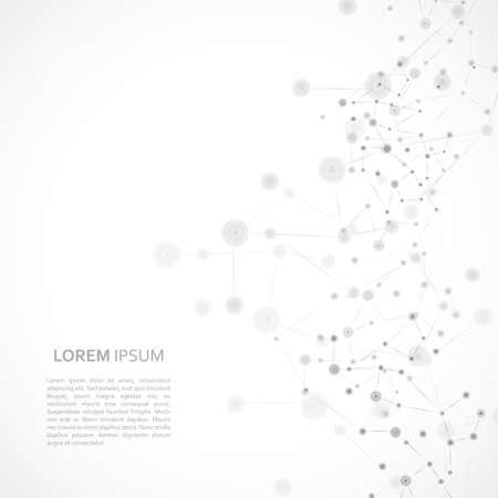 Illustration pour Structure molecule with editable text template. - image libre de droit