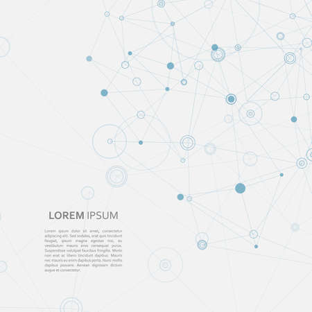 Illustration pour Abstract connection structure, science concept illustration - image libre de droit