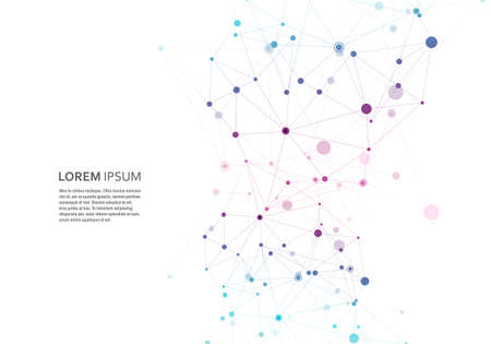 Illustration pour Abstract polygonal geometric shape with molecule structure style. Vector connect illustration - image libre de droit