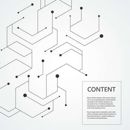 Illustration pour Hexagonal technology pattern. Molecular connect composition. Vector illustration. - image libre de droit