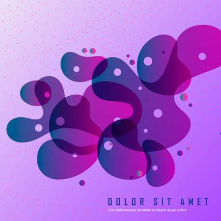 Illustration for Abstract round shapes vector background - Royalty Free Image