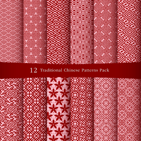 Illustration pour Chinese patterns design - image libre de droit