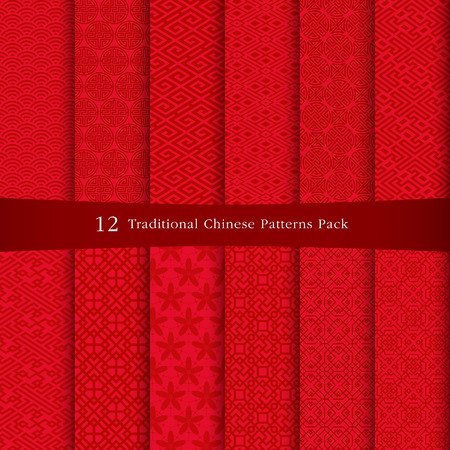 Illustration for Chinese patterns design - Royalty Free Image