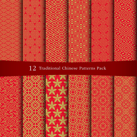 Foto per Chinese patterns design - Immagine Royalty Free