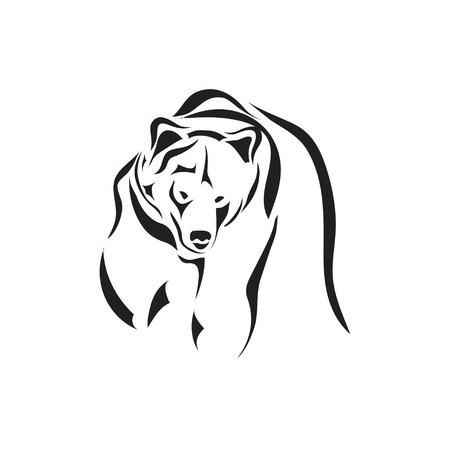 Illustration pour Artistic vector tattoo sketch animal - image libre de droit