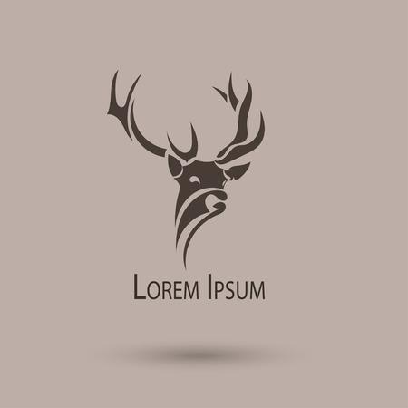 Ilustración de Vector stylized head of a deer.  - Imagen libre de derechos