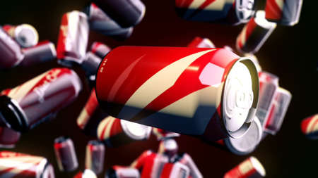 Foto de CGI motion graphics with flying beverages - Imagen libre de derechos
