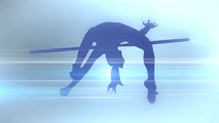 Photo for An abstract silhouette of sports discipline. 3D rendering - Royalty Free Image