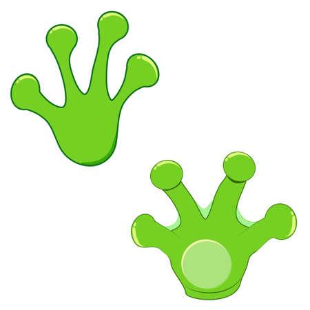 Ilustración de Frog print set vector icon - Imagen libre de derechos
