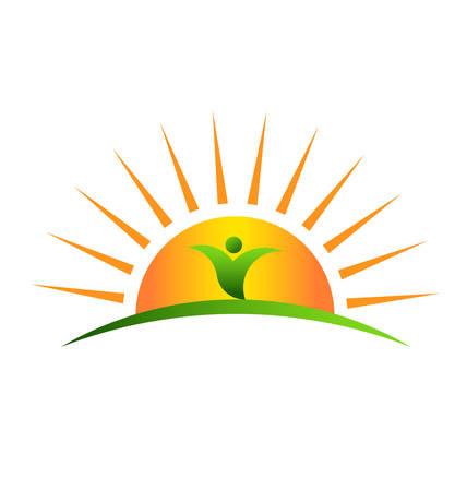 Illustration pour Plant in sunrise - image libre de droit