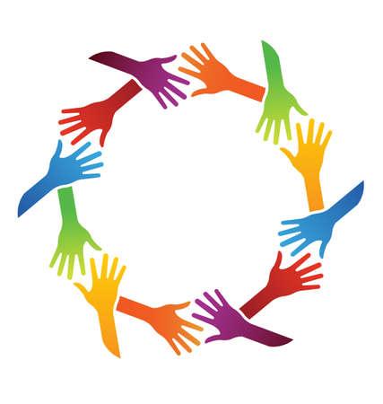 Illustration pour Team handshake - image libre de droit
