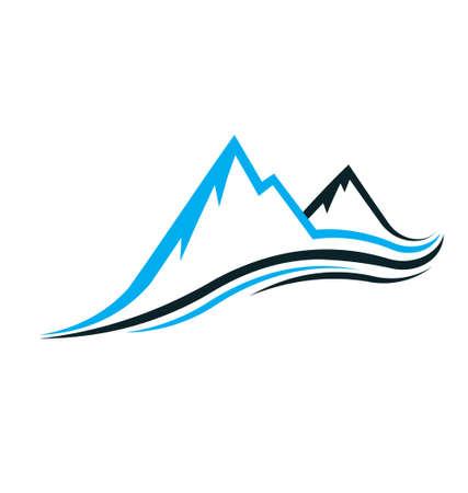 Illustration pour Mountain swoosh - image libre de droit