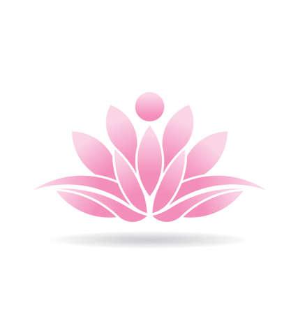 Ilustración de Lotus flower Icon - Imagen libre de derechos