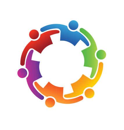Illustration pour Vector Teamwork Embrace 6 - image libre de droit