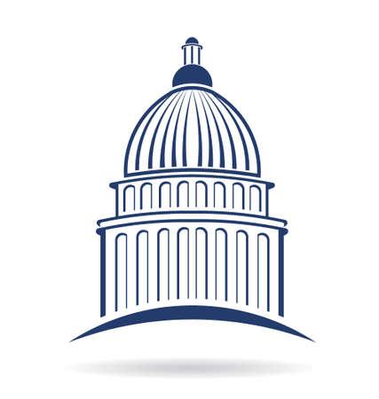 Illustration pour Capitol cupula icon  - image libre de droit