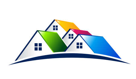 Photo for Vector Logo Group of houses - Royalty Free Image
