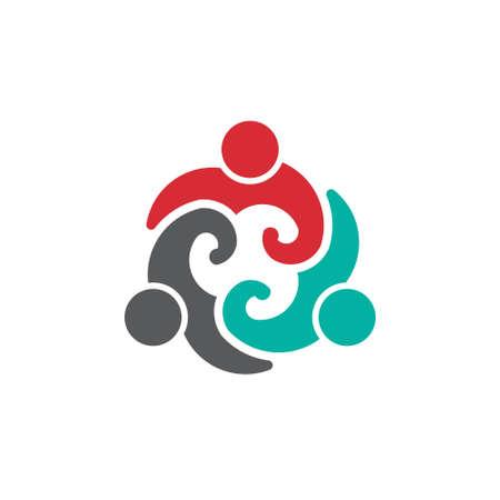 Ilustración de Team People Group 3 image  Concept of association, partnership, social life  Vector icon - Imagen libre de derechos